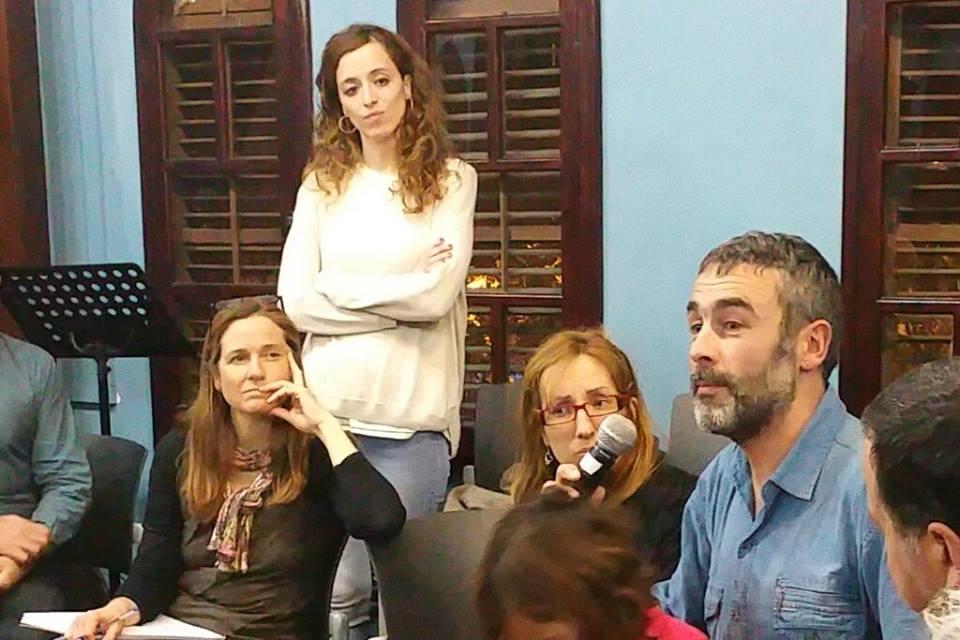 Conciliando trabajo y paternidad en un acto del proceso Decidim Barcelona, 2016