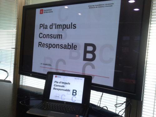 Pla d´Impuls del Consum Responsable de l´Ajuntament de Barcelona
