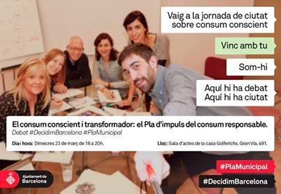"""Debate ciudadano sobre el """"Plan de Impulso del Consumo Responsable"""" en el marco del proceso de participación ciudadana """"Decidim Barcelona"""" (2016)"""